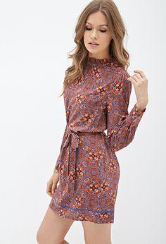 Mosaic Print Woven Dress | FOREVER 21 - 2000060326