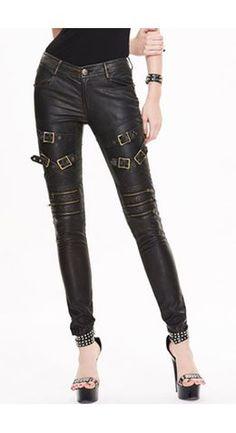 Devil Fashion Faux Leather Steampunk Thunder Trousers