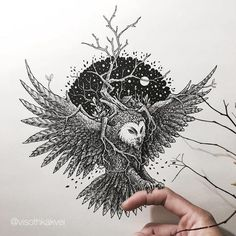 27-year-old Cambodian illustrator Visoth Kakvei creates amazingly intricate tiny doodles, and digitally enhances them. This artist takes 3-6 hours to complete an artwork.