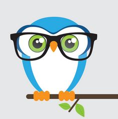 Owl with glasses for inspiration