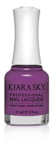 Kiara Sky Polish Charming Haven N516. Kiara Sky® Professional Nail Lacquer is an advanced formula free of Formaldehyde, Toluene, and DBP. Our highly pigmented, high-fashion nail lacquer provides glassy, full coverage, long-wearing shine for natural nails. Kiara Sky patent-pending bottle design is paired with Precision Brush® technology engineered to complement our highly pigmented formula, giving you the most even and precise lacquer application. Available in 101 trendsetting...