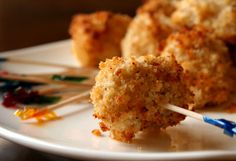 Guests of all ages will love these crispy and garlicy chicken nuggets.