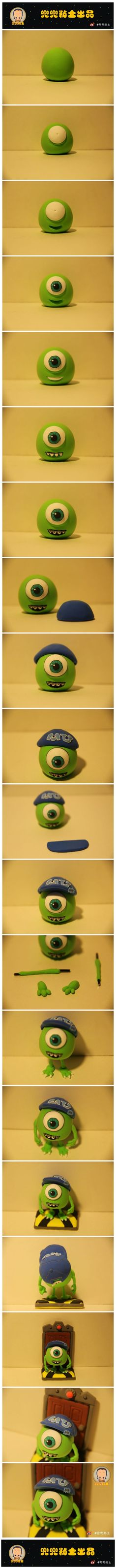 Polymer Clay Mike from Monsters Inc. 2