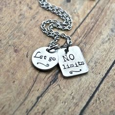 NO Limits Let Go Motivational Inspirational CrossFit Runners Charm Necklace by AfflatusDesignStudio on Etsy https://www.etsy.com/listing/208737190/no-limits-let-go-motivational