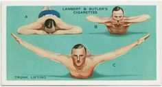 Vintage Exercise: Trunk Lifting