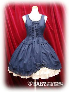 Back Ribbon JSK  バックリボンジャンパースカート  Brand: Alice & the Pirates  Release Year: 2010  Price: ¥23,940  Measurements: 96cm length, 91cm bust, 68cm waist