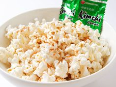 Frank's Red Hot Sauce on popcorn - two of my fave things together in one bowl.