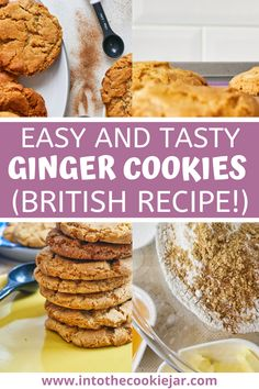 This wonderful ginger cookies recipe is from Cornwall, in Britain, and are an excellent recipe to make with kids. Make this Cornish fairings recipe with the whole family from wherever you are in the world, using classic golden syrup, cinnamon, ginger, and other delicious ingredients. Cookie Recipes For Kids, Best Cookie Recipes, Ginger Cookies, Sugar Cookies Recipe, How To Make Cookies, Food To Make, British Cookies, Golden Syrup, Royal Icing Cookies