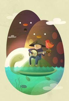 Island Lullaby by Camilo Bejarano, via Behance People Illustration, Children's Book Illustration, Digital Illustration, Graphic Design Inspiration, Illustrations Posters, Illustrators, Graphic Art, Design Art, Character Design