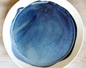 MADE TO ORDER porcelain dinnerplate modern deep blue.