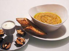 Orientalisk linssoppa   Recept från Köket.se Yoghurt, Peanut Butter, French Toast, Curry, Pudding, Breakfast, Desserts, Food, Morning Coffee