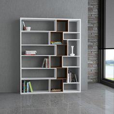 Decortie Roscoe Bookcase White-Walnut