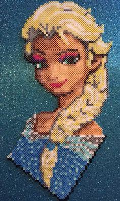 Frozen Elsa Perler Bead design by Amber--Lynn.deviantart.com on @DeviantArt