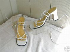 Ankle/leg -Strapped Pearl St. Tropez Sandal Heels