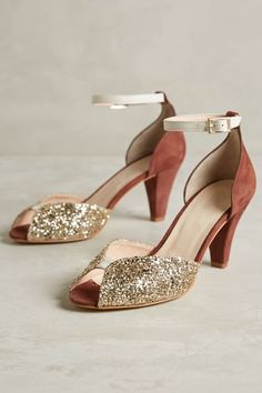 The Prettiest Shoes I ever did see! Emma Go Juliette Glitter Heels - anthropologie.com
