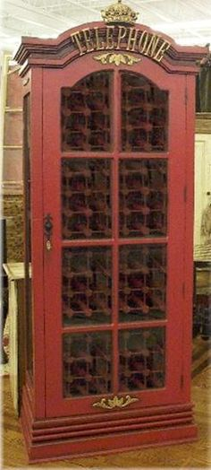 """London Telly"" phone booth Wine Cabinet"
