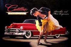 Vintage Classic Cars and Girls: Cadillac by Greg Hilderbrandt