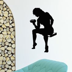 Amazon.com - Wall Decal Vinyl Sticker Sport Gym Fitness Body-building Girl Decor Sb358 -