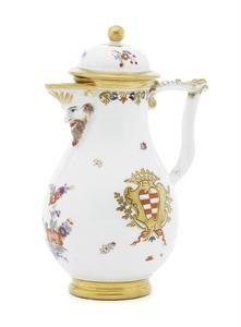A very rare Meissen armorial coffee and tea service with the arms of Taparelli, circa 1735-40. Photo courtesy Bonhams