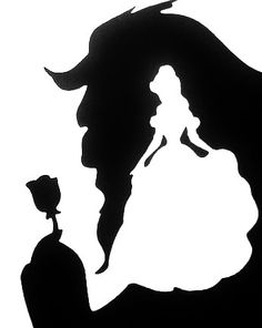 Beauty The Beast stencilYou can find Disney silhouettes and more on our website.Beauty The Beast stencil Silhouette Cameo Projects, Silhouette Design, Disney Silhouette Art, Disney Princess Silhouette, Castle Silhouette, Disney Crafts, Disney Art, Disney Ideas, Silhouettes Disney
