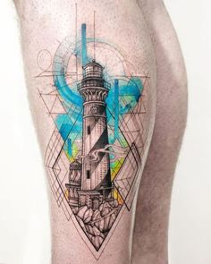 Lighthouse made by in Melbourne, AUS - for more tattoo inspiration, visit our app via link in bio! Hai Tattoos, Daddy Tattoos, Forearm Tattoos, Life Tattoos, Body Art Tattoos, Tattoo Sleeve Designs, Sleeve Tattoos, Traditional Tattoo Forearm, Traditional Tattoos