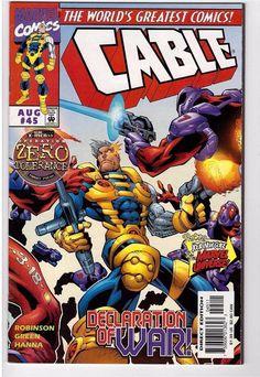 Cable #45 Aug 1997 Marvel Comic Book X-Men Bastion Moving Target Zero Tolerance