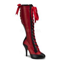 Victorian high boot in red (or white). $82.95