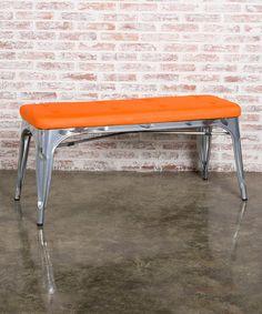 Fine Mod Imports Inc. Orange Double Lounge Bench | zulily