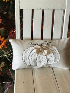 White Pumpkin Lumbar Cottage Farmhouse Rhinestone Button | Etsy