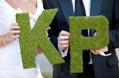 Pretty Wedding Inicjaly Pary Młodej