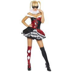 Naughty Harlequin Clown Costume | Sexy, Batmobile and Girl costumes