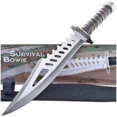 Frost Cutlery TR3063 Skeletonized Survival Bowie Knife Sawback…