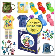 Disney Pixar's INSIDE OUT will be in theaters June 19! This movie is so funny and sweet. Disney Store now has the best gear: INSIDE OUT mugs, tees, & toys!