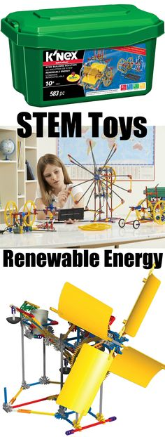 STEM construction toys to teach about renewable energy!