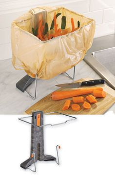 Easily reuse all those plastic grocery bags with Waste Bag It™. Clever Gadgets, Cool Kitchen Gadgets, Home Gadgets, Cooking Gadgets, Gadgets And Gizmos, Kitchen Hacks, Cool Kitchens, Toy Kitchen, Kitchen Items
