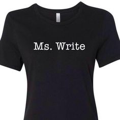 Ms Write Shirt, Back