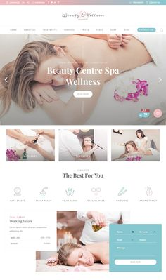 to Make Beautiful Spa & Beauty Salon Websites With WordPress Website Design Inspiration, Website Design Layout, Web Layout, Website Designs, Design Web, Layout Design, Sites Layout, Wireframe, Beauty Web