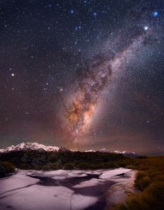 Icy Night by David Diehm on 500px. Mount cook National Park. New Zealand Nature Sauvage, Under The Stars, Sky Full Of Stars, Milky Way, Night Sky Stars, Night Skies, Good Night, Night Night, Paysage Sublime