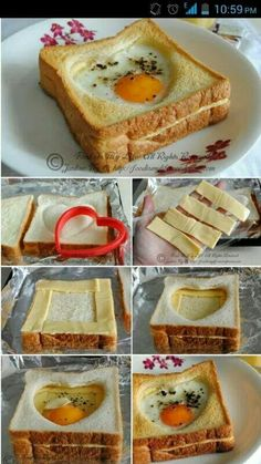 Have this delicious baked egg and cheese toast for breakfast - recipe . - Have This Delicious Baked Egg And Cheese Toast For Breakfast – Recipe – # - Cheese Toast, Egg Toast, Toast Pizza, Cheese Bread, Mac Cheese, Cheddar Cheese, Breakfast Bake, Breakfast Recipes, Healthy Snacks