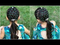 Peinado para niñas con ligas ideal para navidad|Peinados fáciles y rápidos para niñas|LPH - YouTube Holiday Hairstyles, Cute Hairstyles, Braided Hairstyles, Little Girl Hairstyles, Hair Dos, Little Princess, Wigs, Braids, Hair Beauty