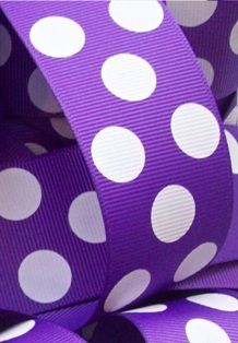 Purple Polka-Dot Ribbon