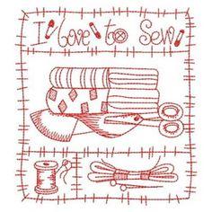 redwork machine embroidery designs free - Google Search