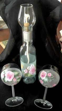Oil lamps and wine glasses