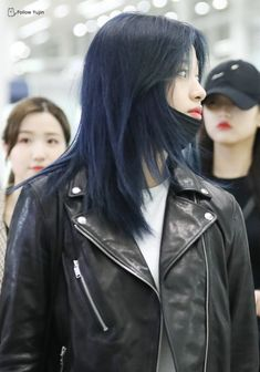 Hair Color Streaks, Hair Dye Colors, Hair Color Blue, Dye My Hair, New Hair, Pelo Ulzzang, Plum Hair, Hair Again, Hair Reference