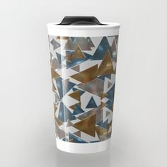 Triangle Explosion travel mug by LLL Creations. This design is available in many different products.    #society6 #society6_products #LLLCreations #travelmugs