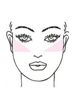 To slim a round face, apply your blush in an angular motion blending from the apples of the cheeks towards the temples.