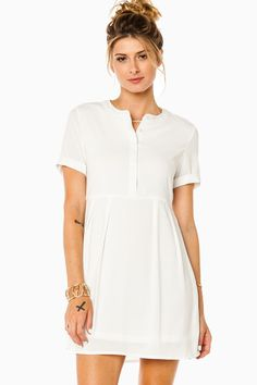 ShopSosie Style : Aubree Dress in White