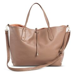 Women's Under One Sky Reversible Tote Handbag with Additional Bonus Crossbody Handbag - TAUPE BROWN