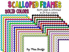 FREE commercial use friendly scalloped frames!! 24 super cute page border frames -- Grab them while they're FREE!