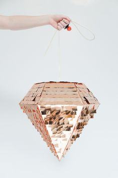 Pinatas aren't just for kids any more. We are obsessed with this copper diamond from Prospect Goods.